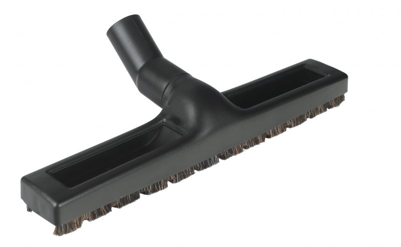 "14"" Floor Brush, Horse Hair with wheels"